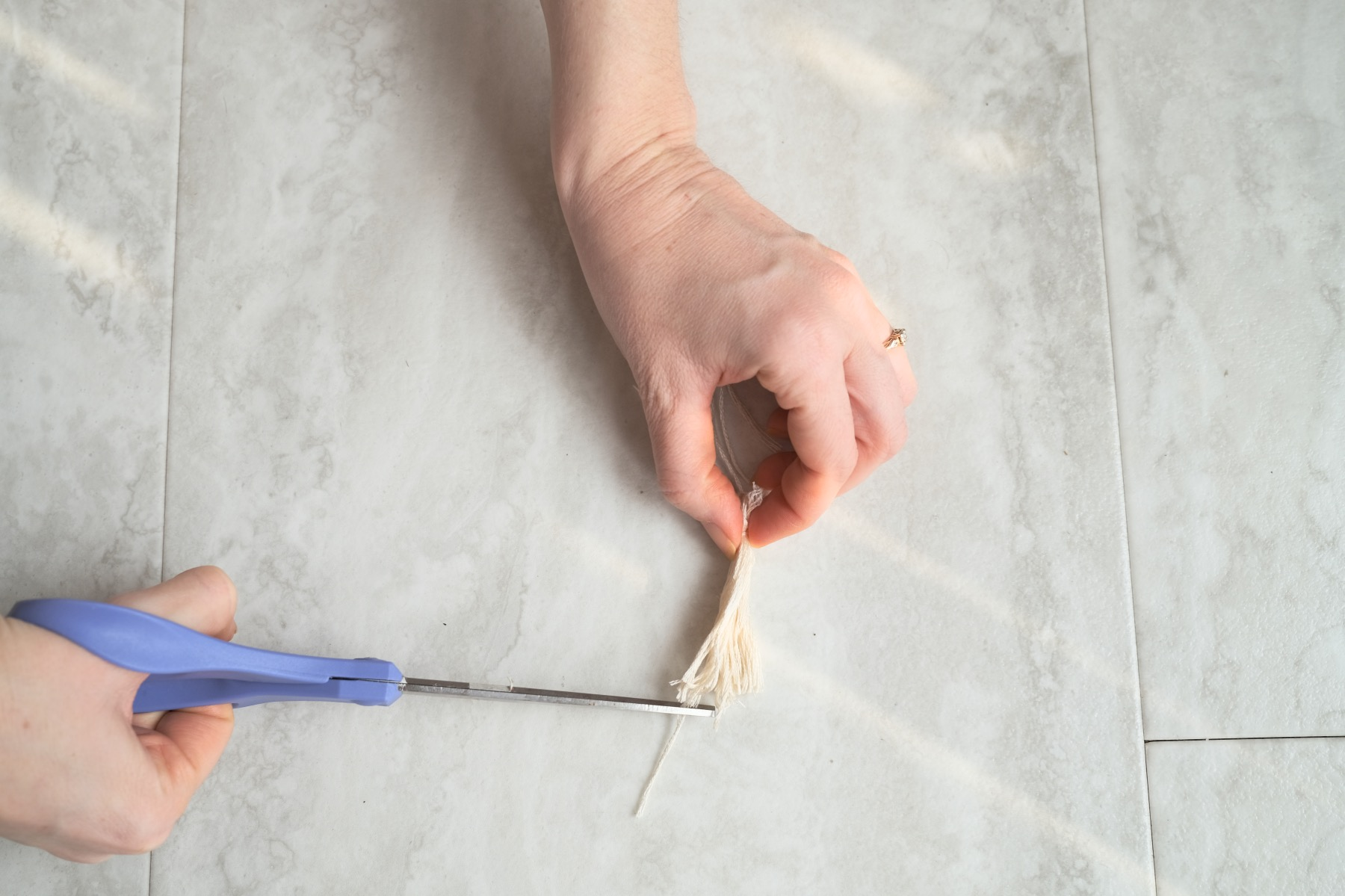 how to trim the tassel diy pop shop america