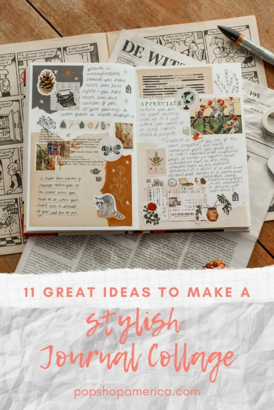 11 ideas to make a stylish journal collage diy pop shop america