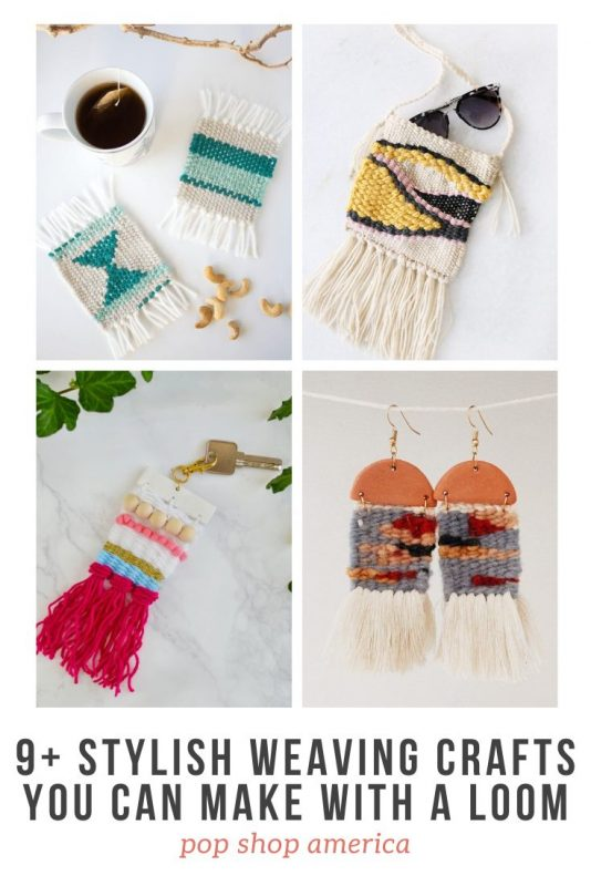9+ stylish weaving crafts you can make with a loom