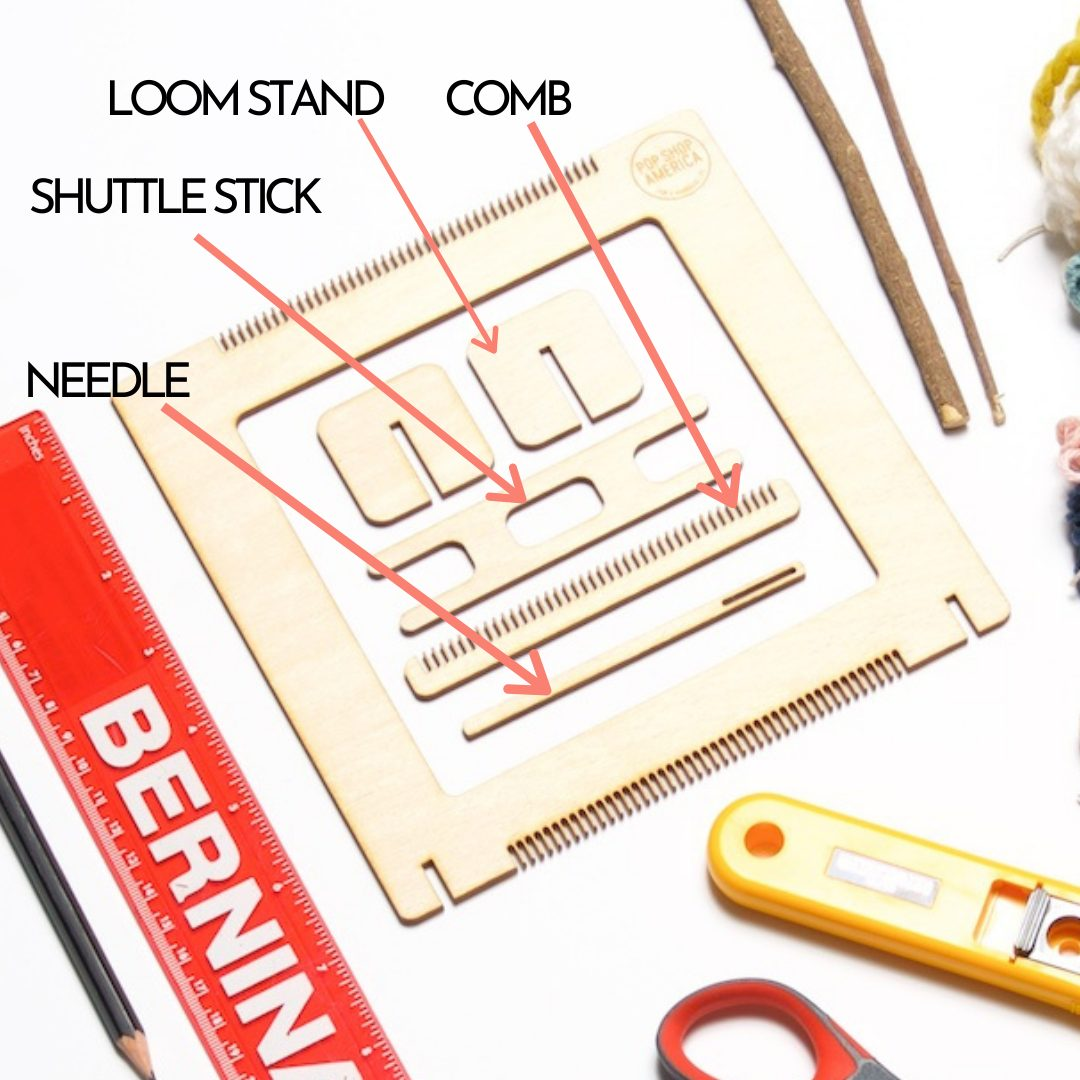 Parts of a Loom Instructions Pop Shop America how to