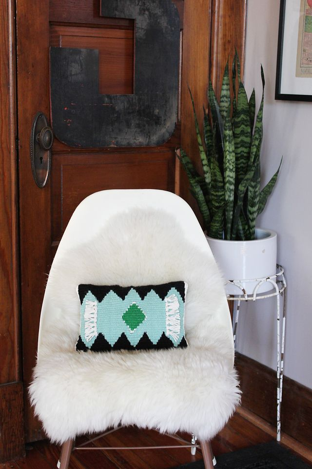 diy woven pillow craft tutorial a beautiful mess