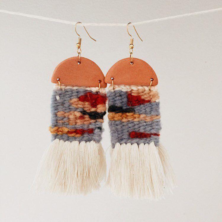 diy woven yarn earrings diy pop shop america