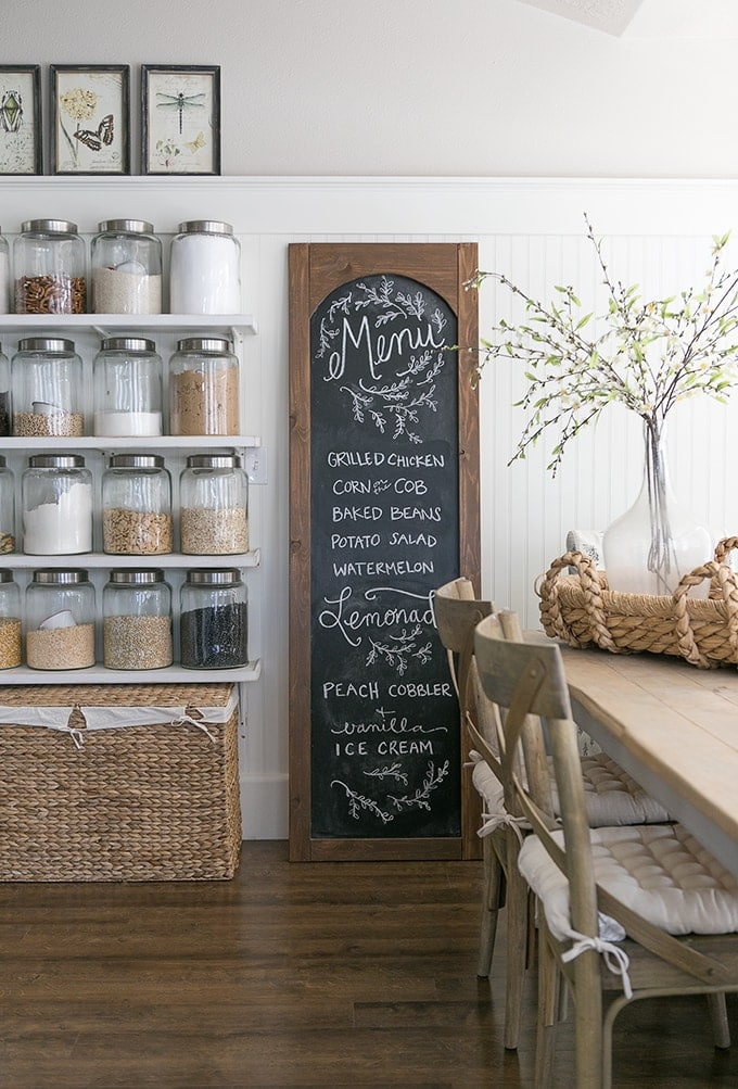 ella claire inspired blog chalkboard painted sign