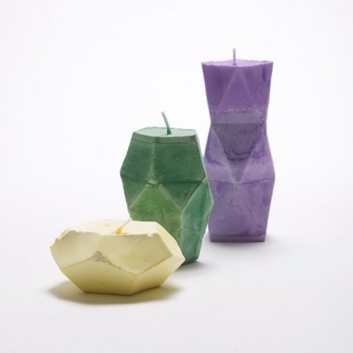 geometric candle making kit, colored candles