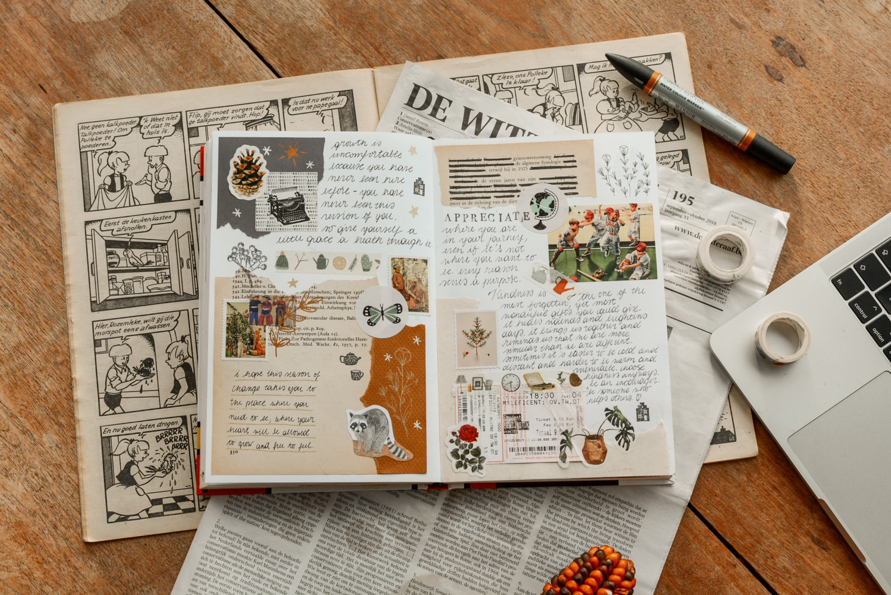 how to make a collage journal tips and tricks