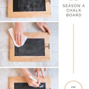 how to season a chalkboard easy guide