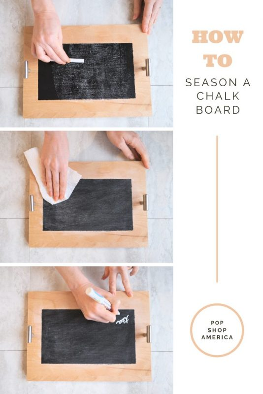 how to season a chalkboard easy guide