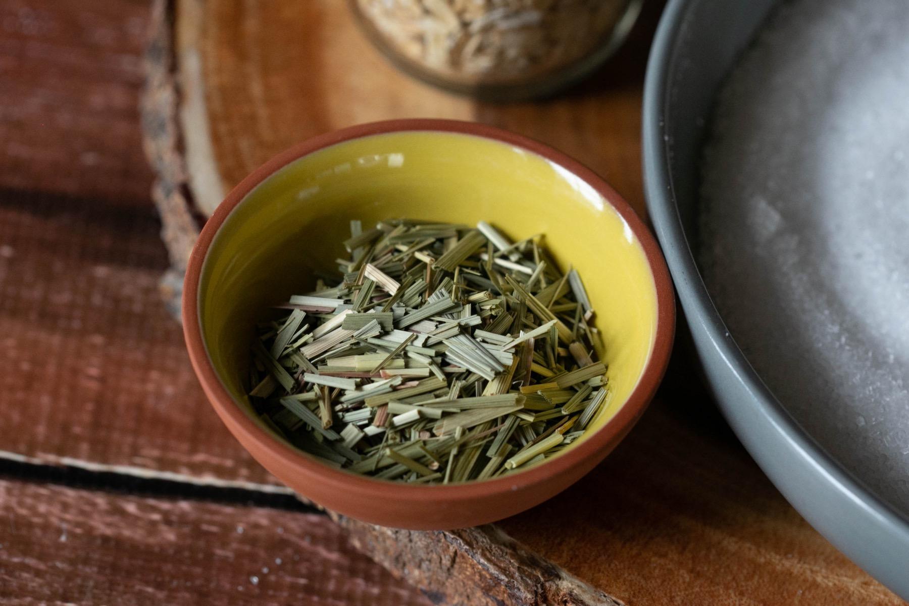 lemongrass ingredients for herbal bath soak