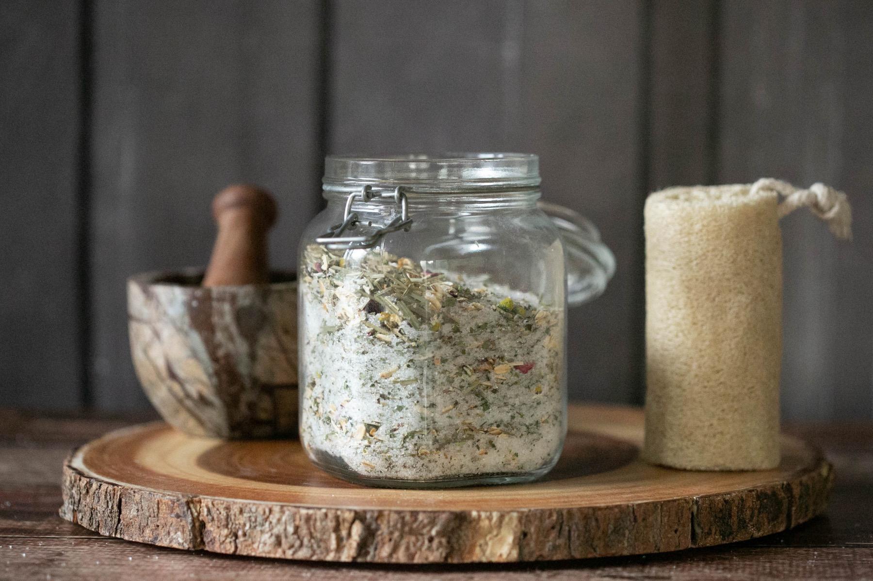oatmeal herb and epsom salt bath soak recipe
