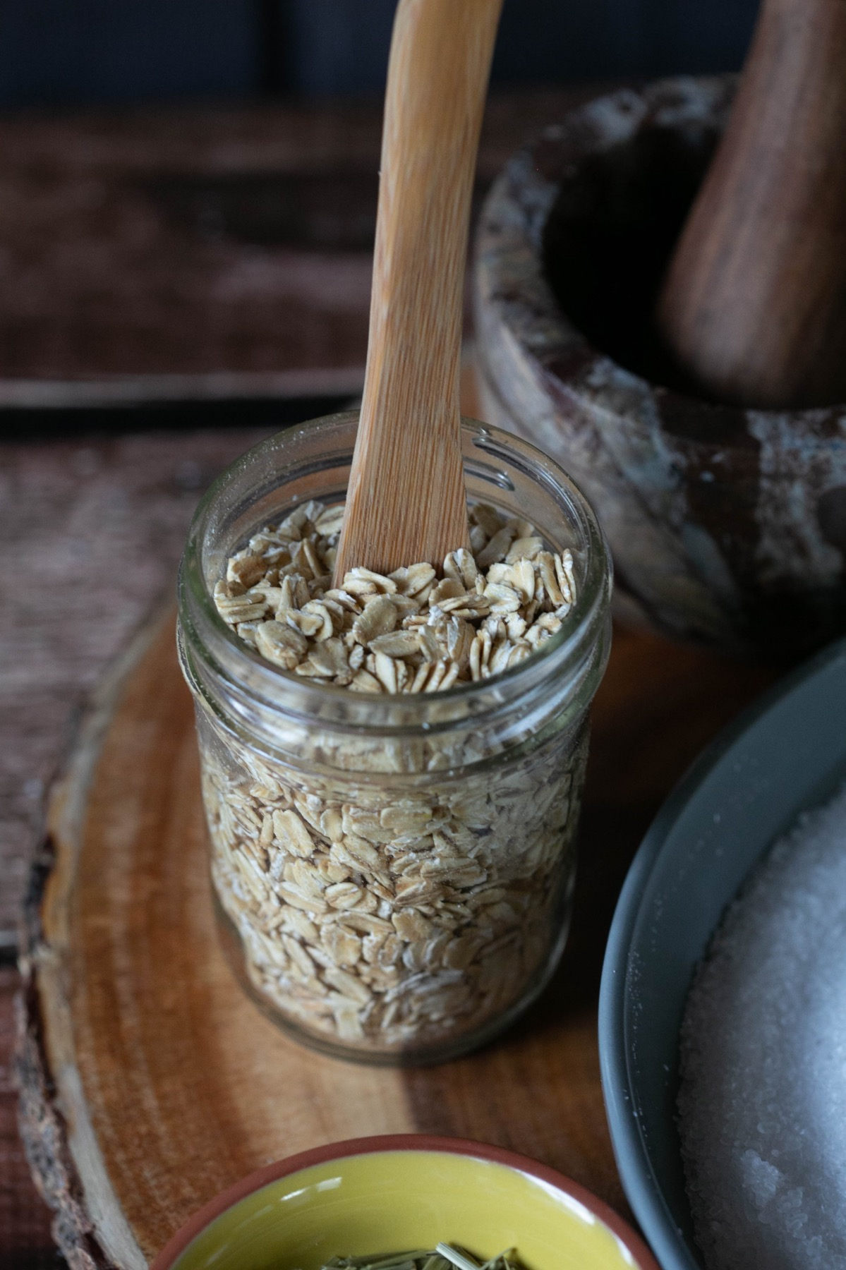 oats to add to homemade forest bath soak recipe