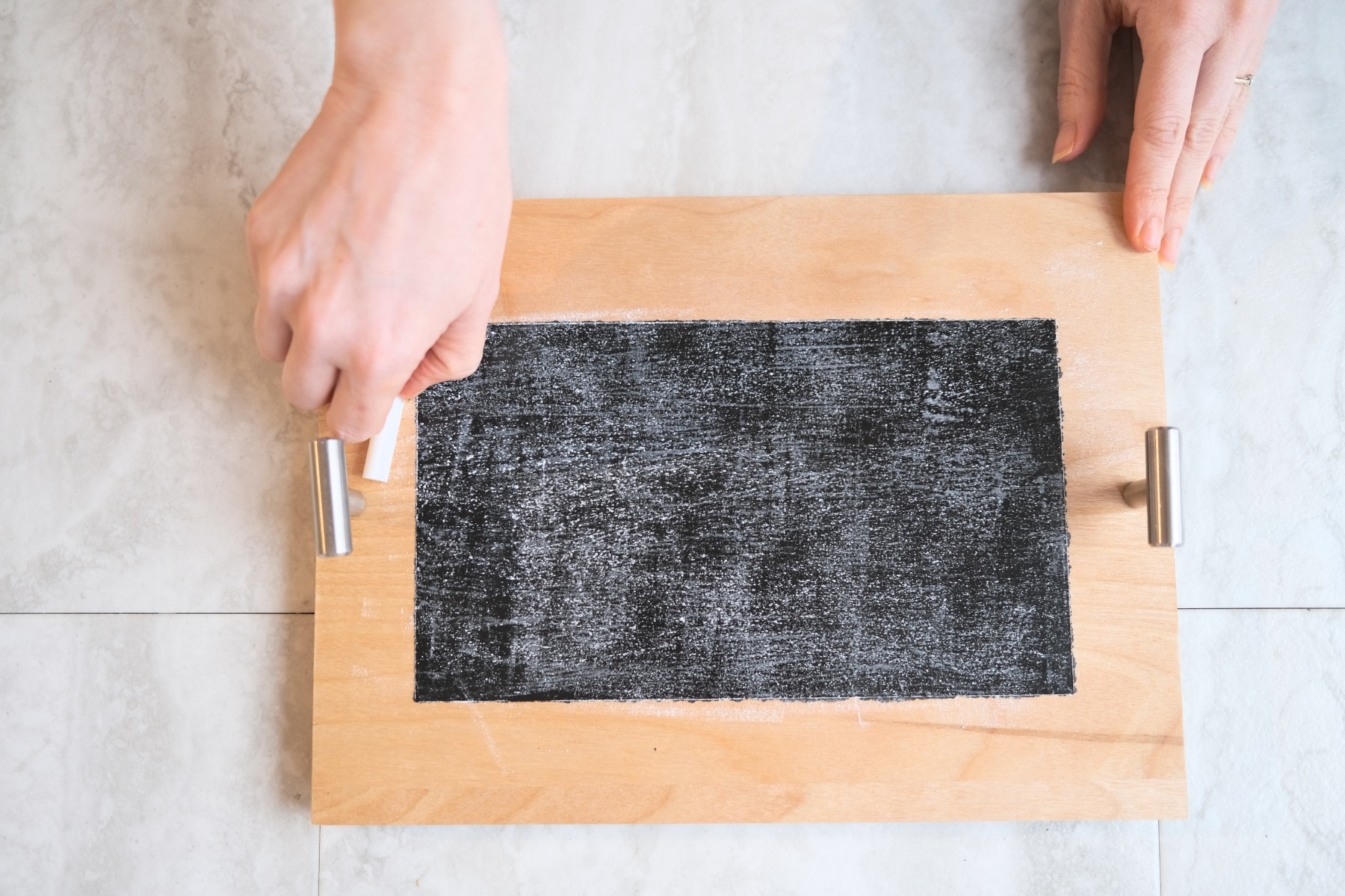 seasoning a chalkboard step by step instructions