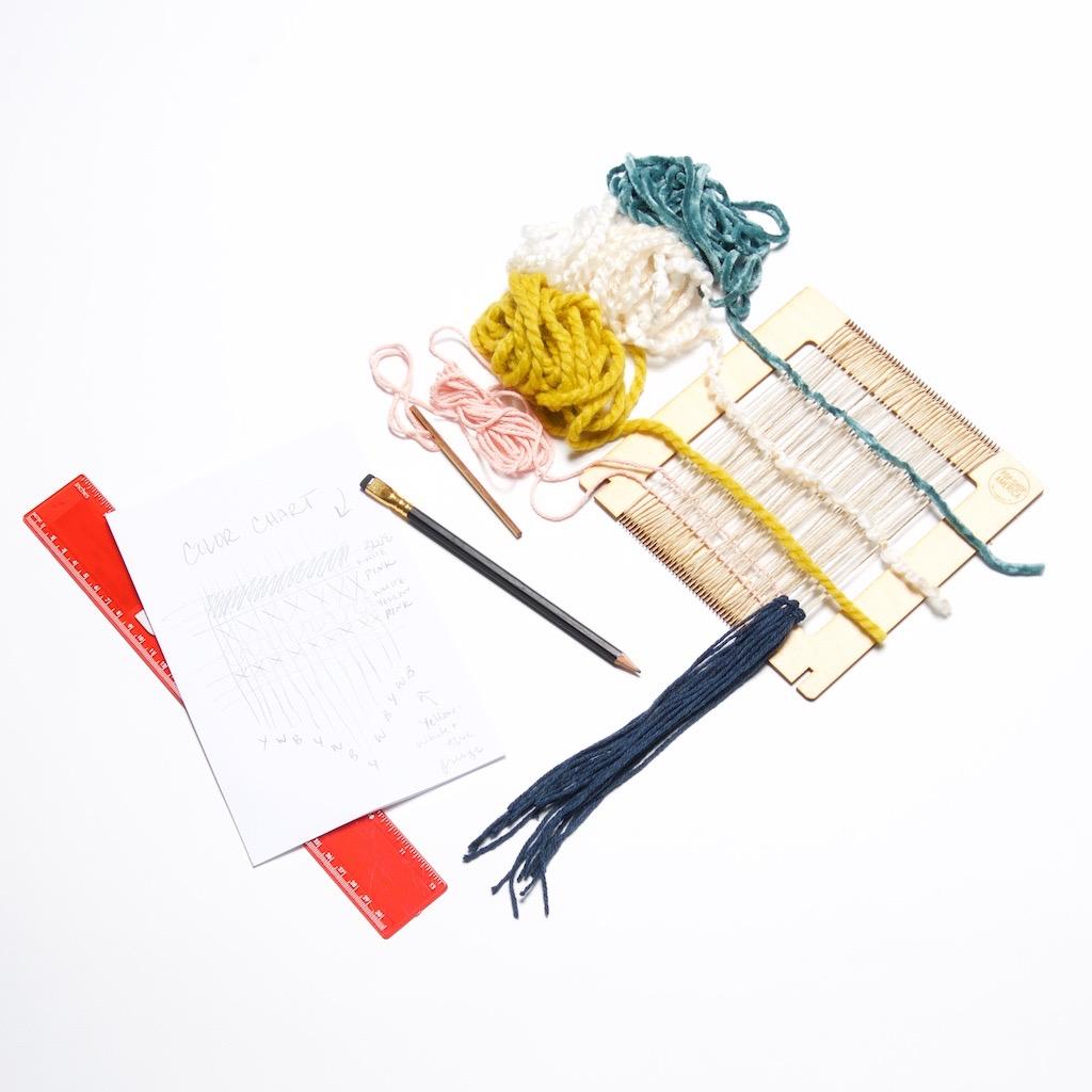 supplies to make a woven wall hanging diy