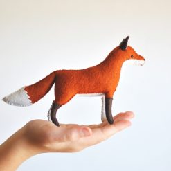 woodland fox felt craft supply kit
