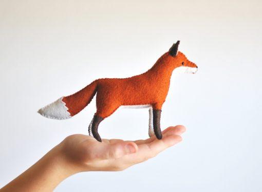 woodland fox felt craft supply kit