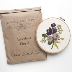 Amethyst-Floral-cross-stitch-kit-by-junebug-and-darlin