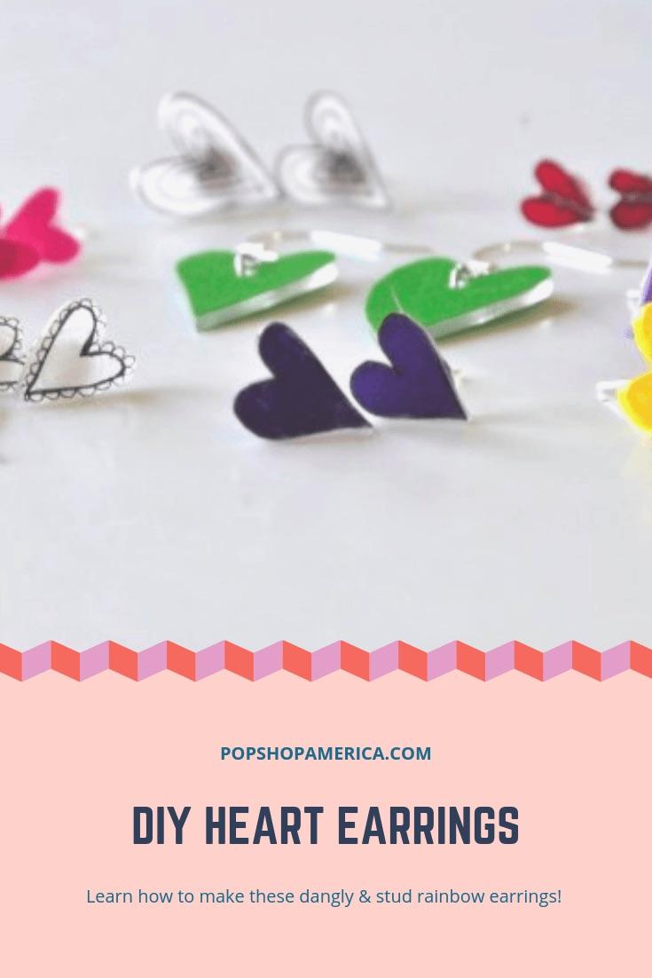 DIY Heart Earrings by Pop Shop America