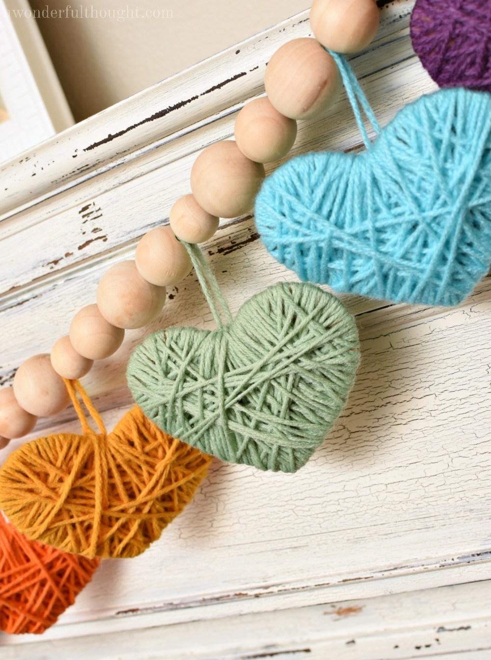 Multicolored-Yarn-Heart-Garland