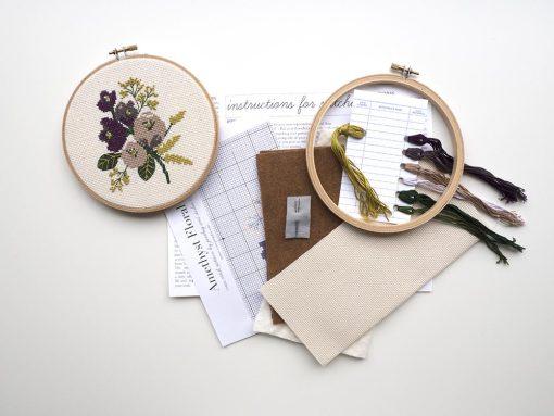 amethyst-flower-cross-stitch-embroidery-hoop-kit