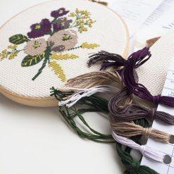 amethyst-flower-cross-stitch-kit-supplies