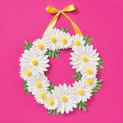 daisy pom pom wreath making kit