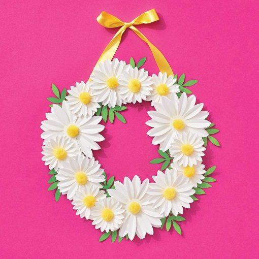 daisy pom pom wreath making kit