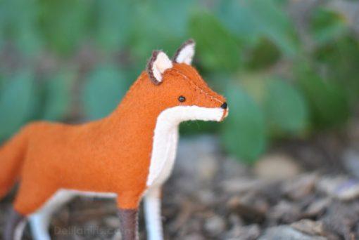 felt fox stitching kit craft supplies
