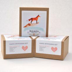 felt fox toy sewing kit craft supplies