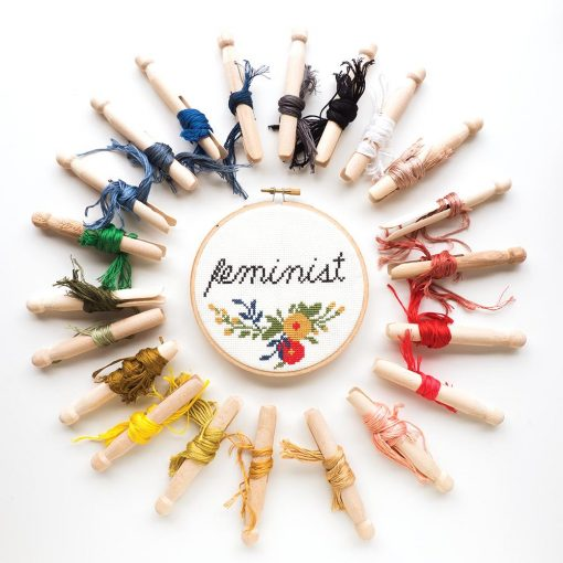 floss-that-comes-with-the-feminist-cross-stitch-craft-kit
