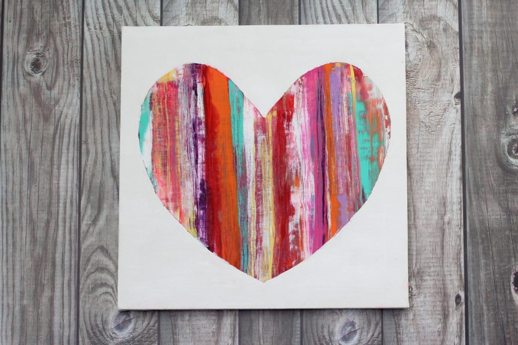 heart valentine's canvas painting