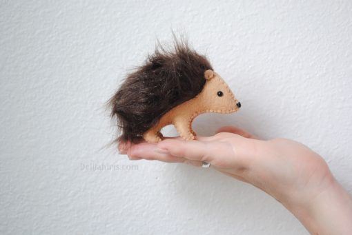 hedgehog sewing and stitching craft kit