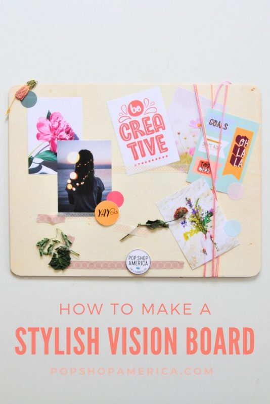 how to make a wood vision board pop shop america