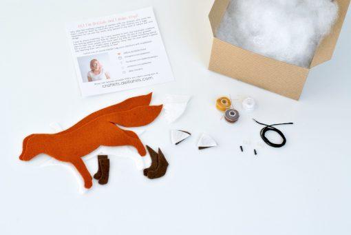 inside the felt fox making kit