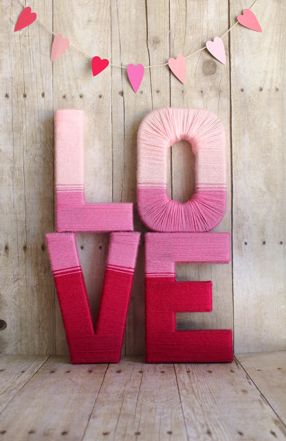 love yarn letters galentine's craft