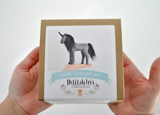 magical dark unicorn felt craft kit