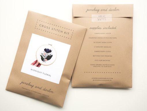 packaging-of-midnight-purple-flower-cross-stitch-supply-kit