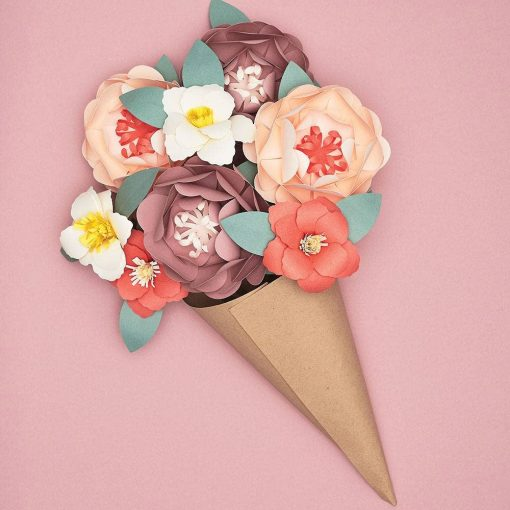 paper flower making bouquet craft kit