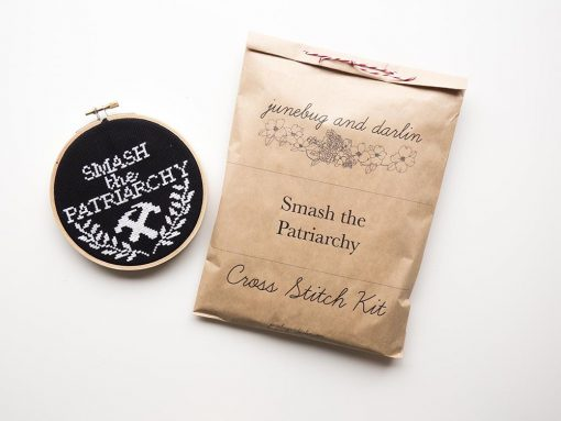 smash-the-patriarchy-cross-stitch-kit
