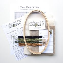 supplies-inside-the-take-time-to-heal-cross-stitch-embroidery-kit