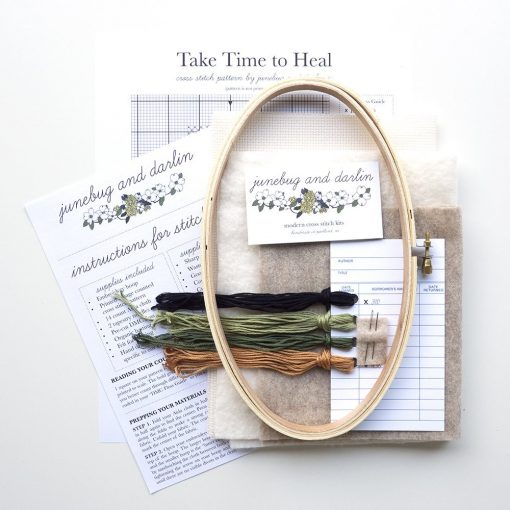 supplies-inside-the-take-time-to-heal-cross-stitch-embroidery-kit_square