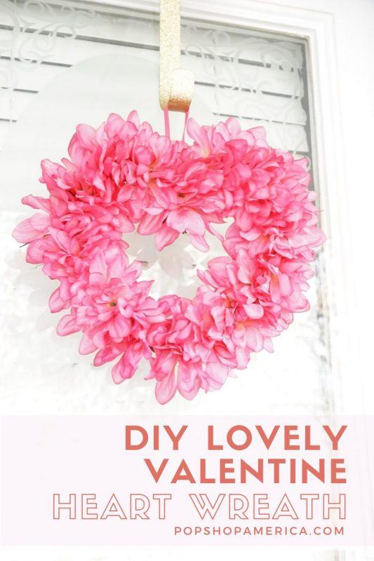 valentines day heart wreath craft tutorial