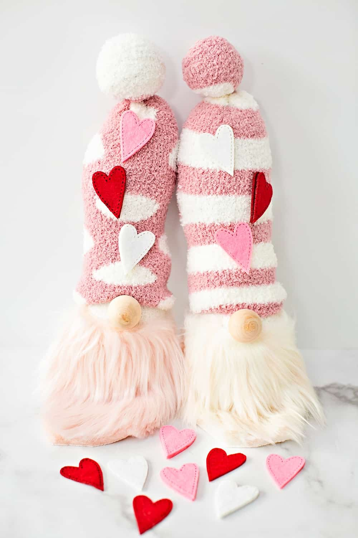 valentines sock gnomes craft