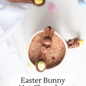 easter bunny hot chocolate spoons recipe
