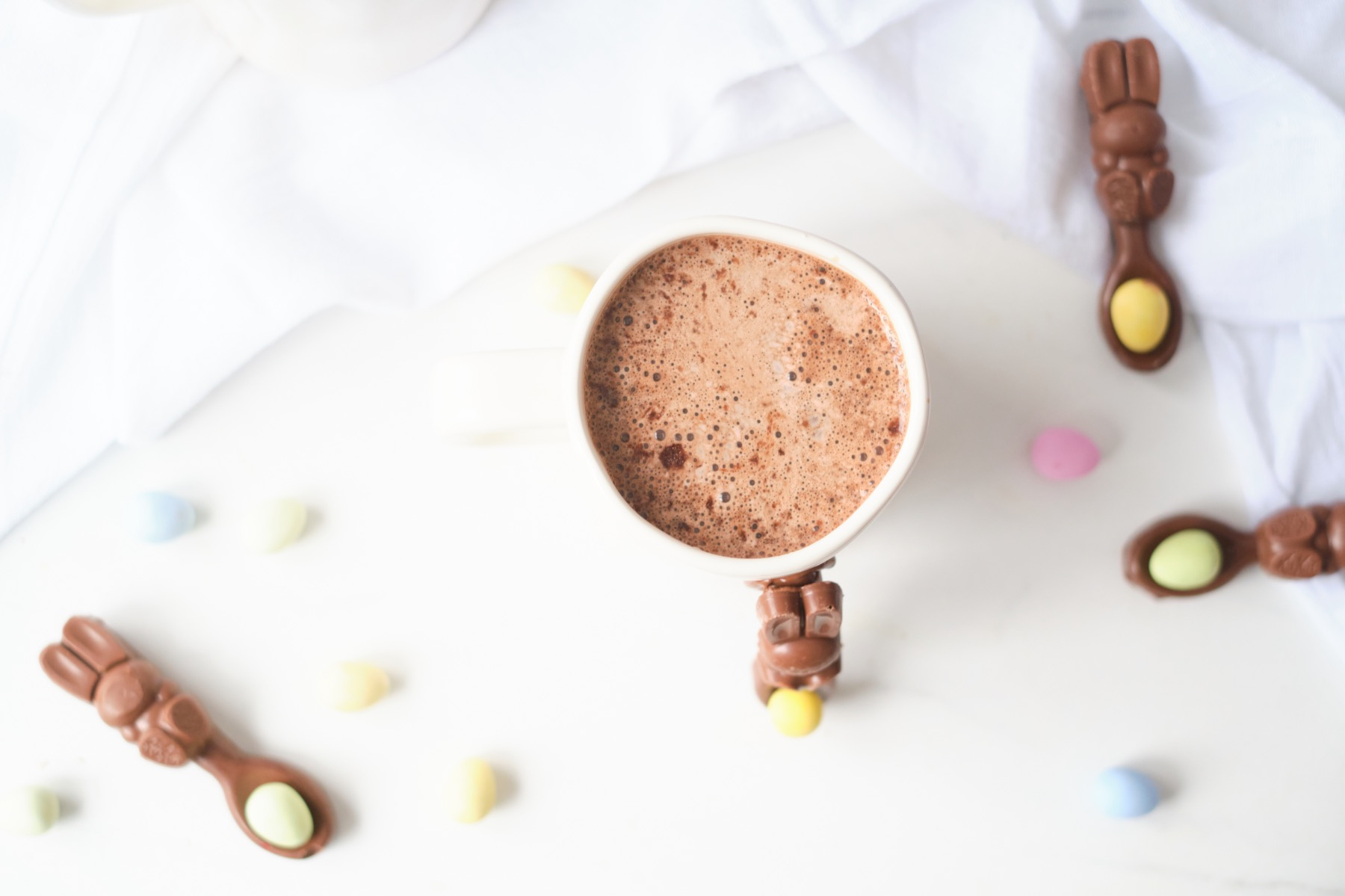 hot chocolate recipe with a dipping spoon