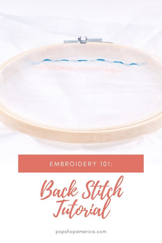 how to make a back stitch embroidery tutorial