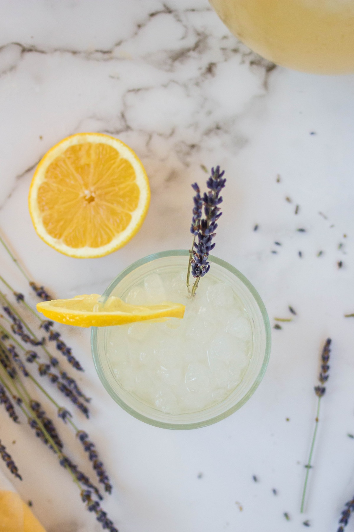add a sprig of lavender to the lavender lemonade recipe