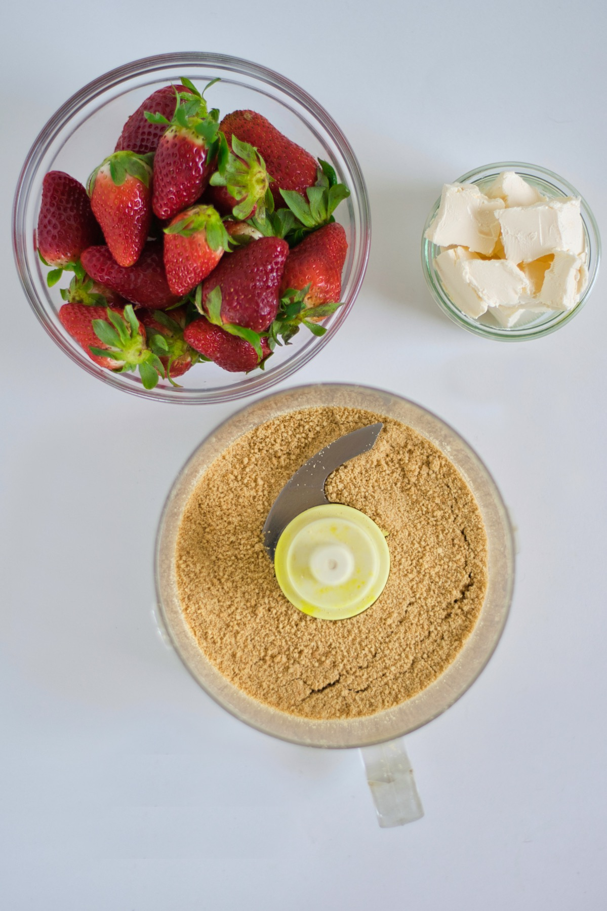 butter cookie crust for a strawberry cream crumble