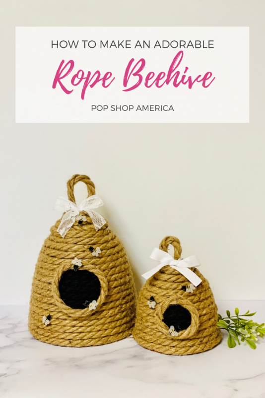 easy rope beehive decoration craft tutorial feature