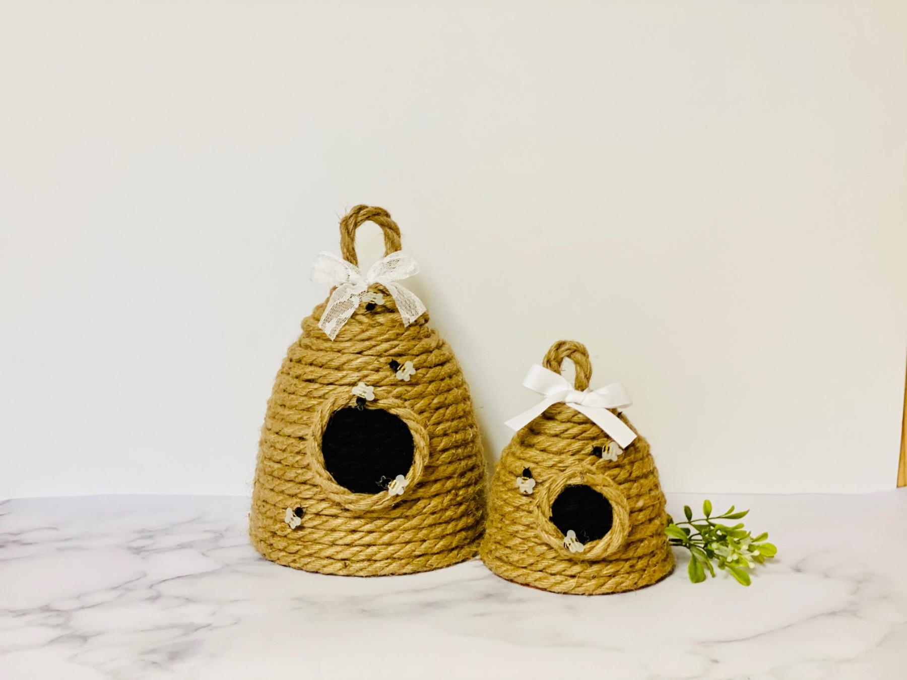 finished rope beehive craft tutorial pop shop america