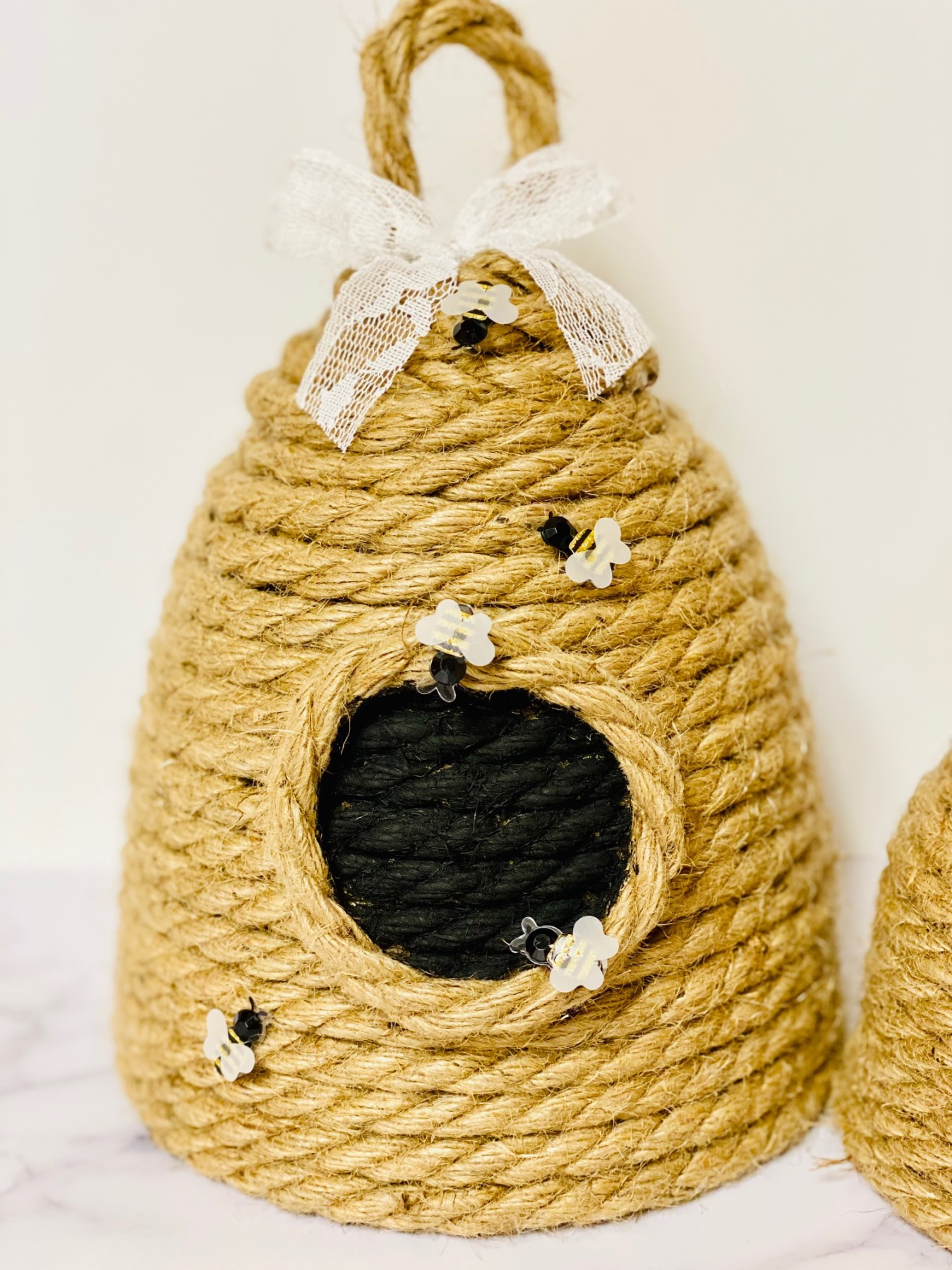 finished rope beehive decoration tutorial pop shop america