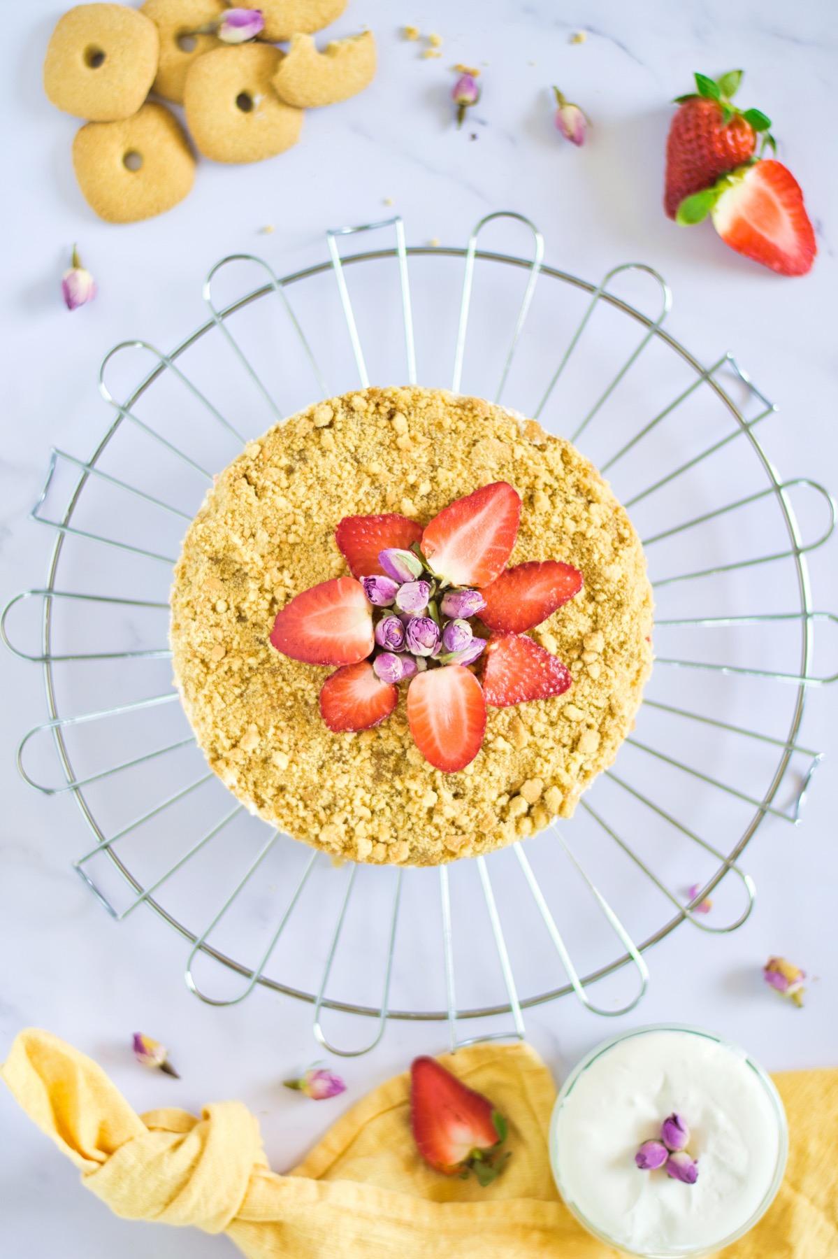 finished strawberry crumble recipe pop shop america